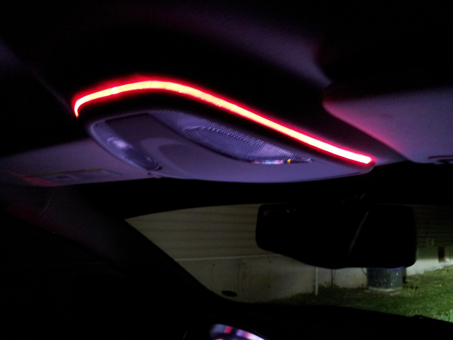 Car interior glow