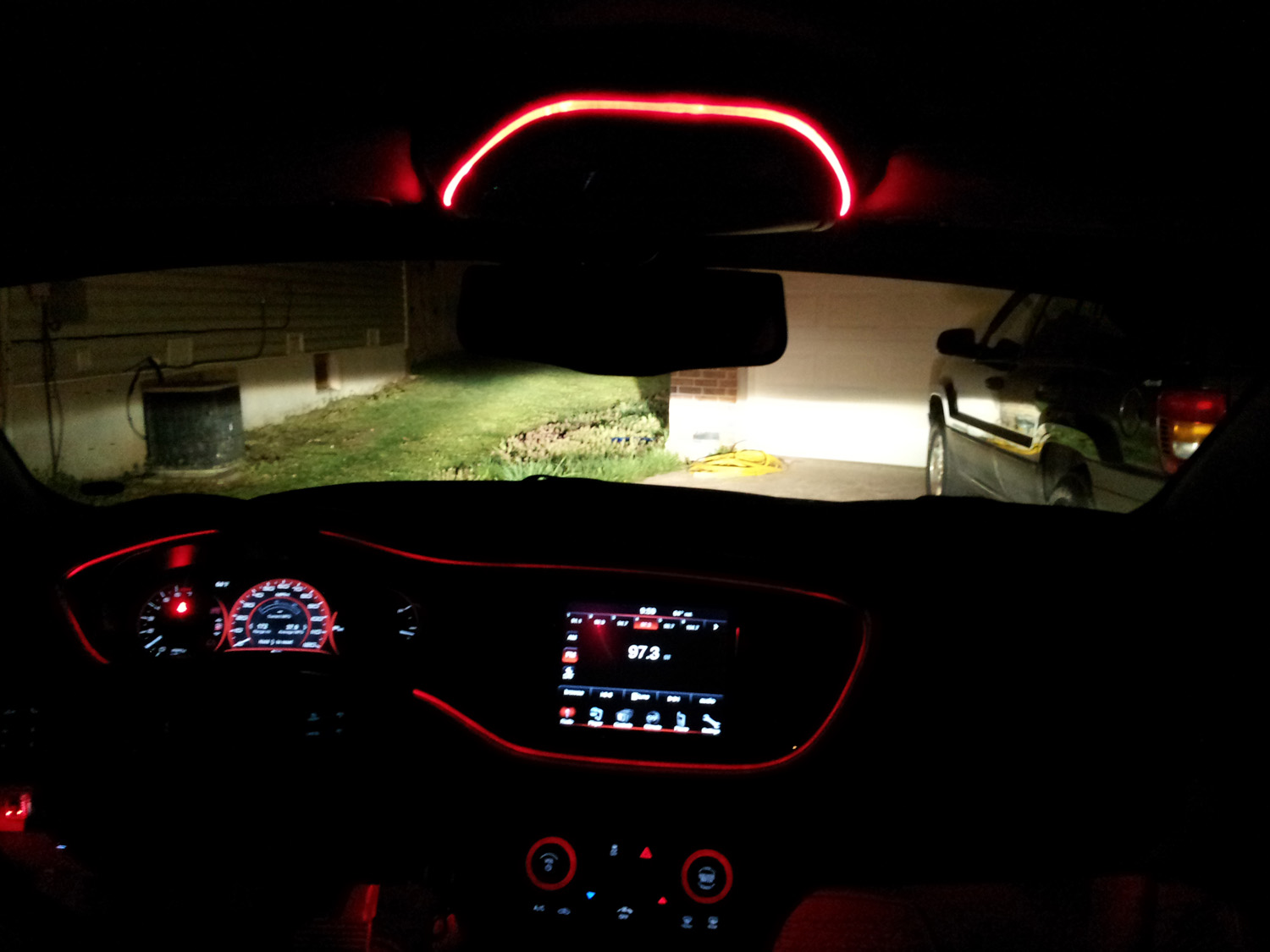 Dodge Dart Tire Size >> Interior DashBoard RED light - EXPAND it to more in the car?