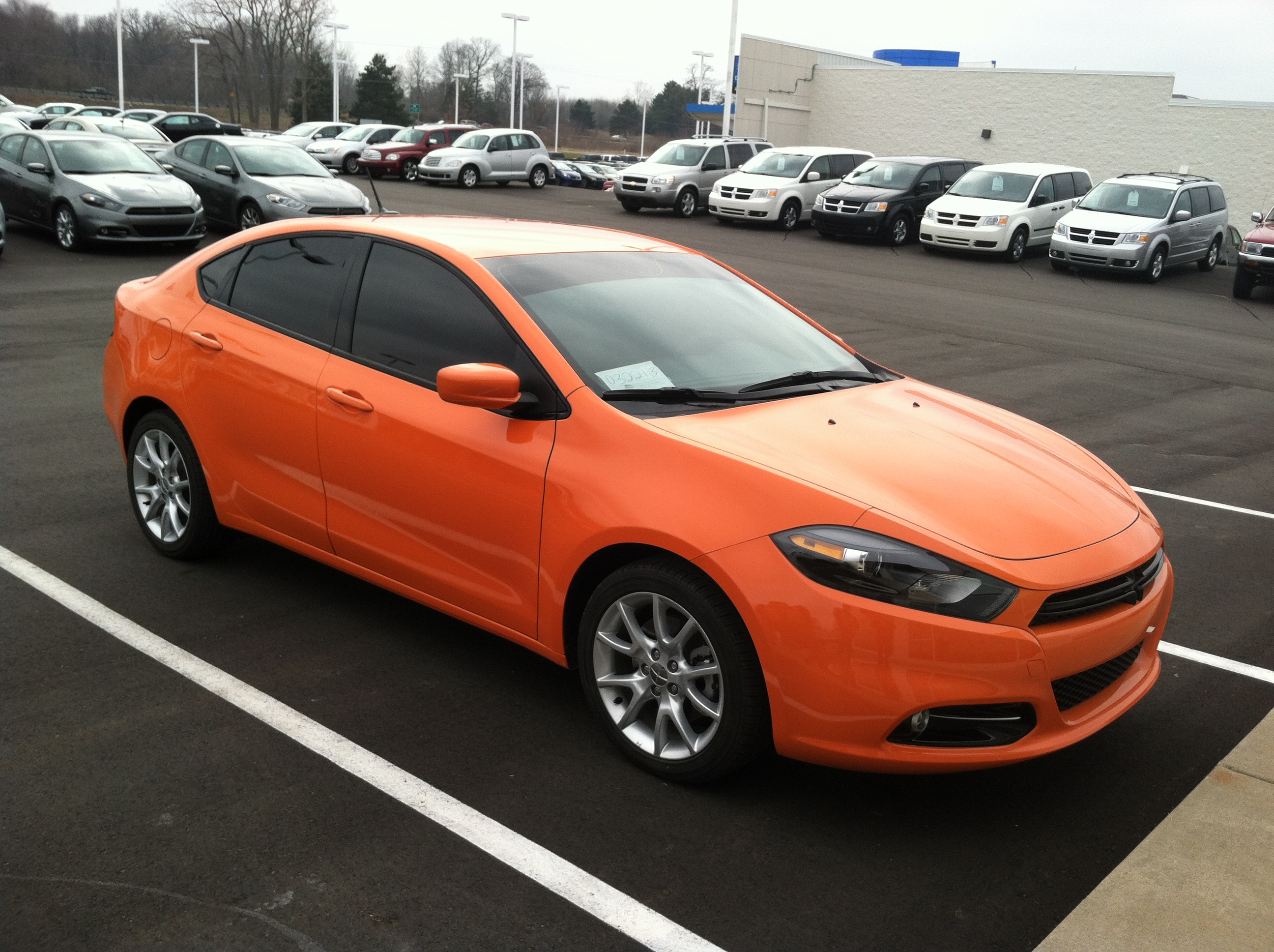 2013 dodge dart sxt in header orange