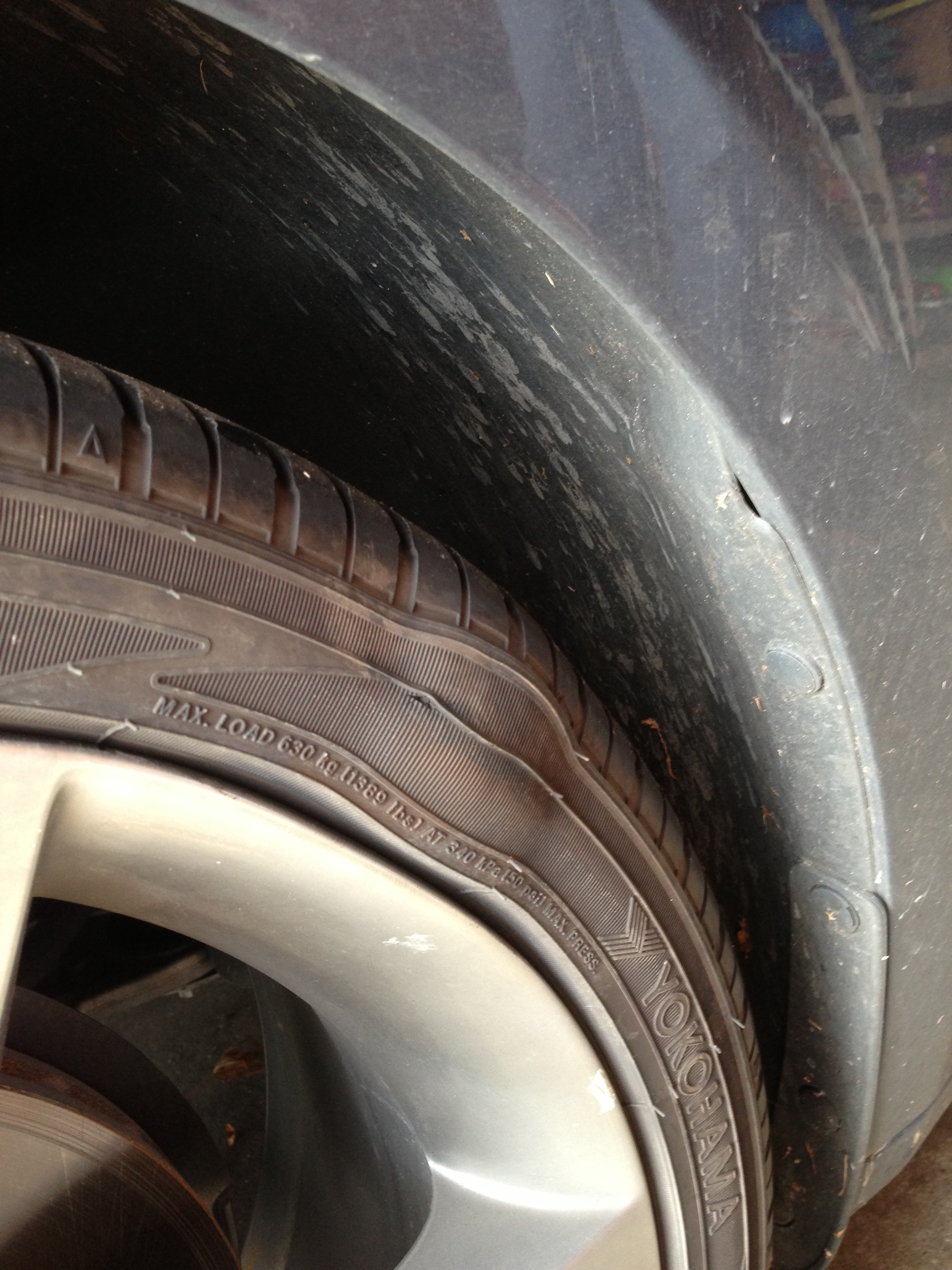 Dodge Dart Tire Size >> Tire Bubble and Possible Bent Rim!