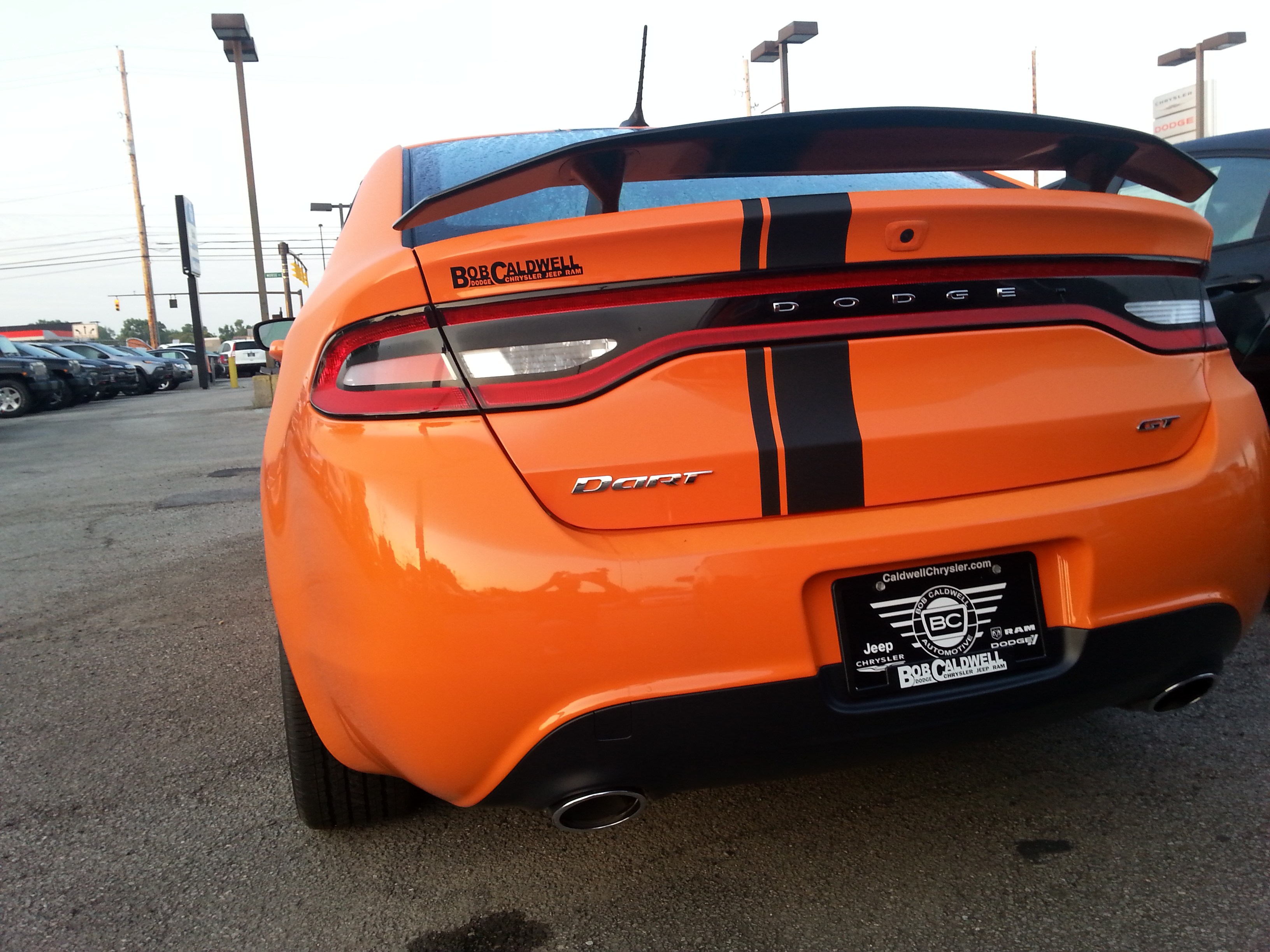 Orange Dart Gt Window Tint Pics Please Post Dodge Dart Forum