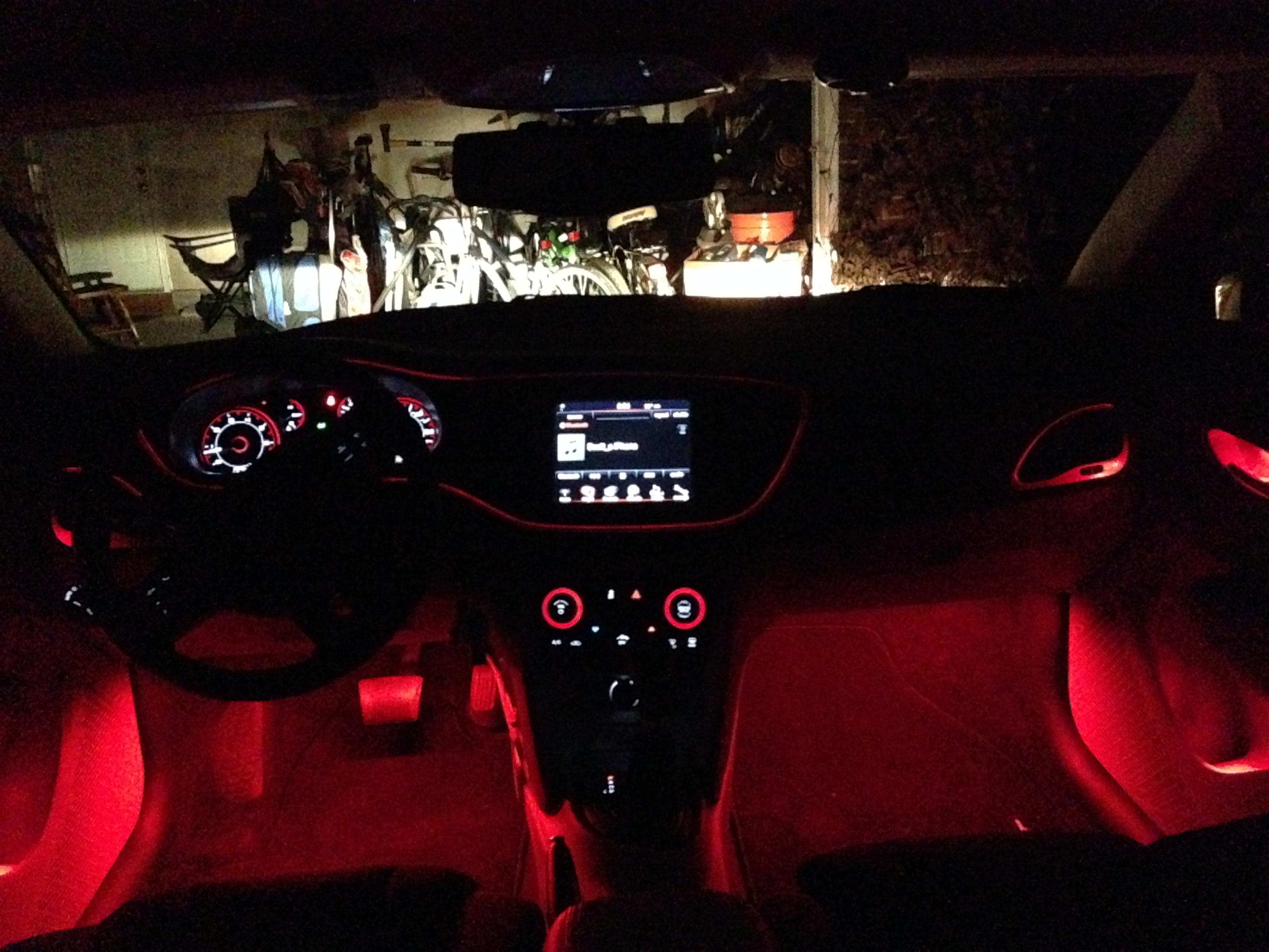 My Custom Ambient Lighting And Led Bulbs Dodge Dart Forum