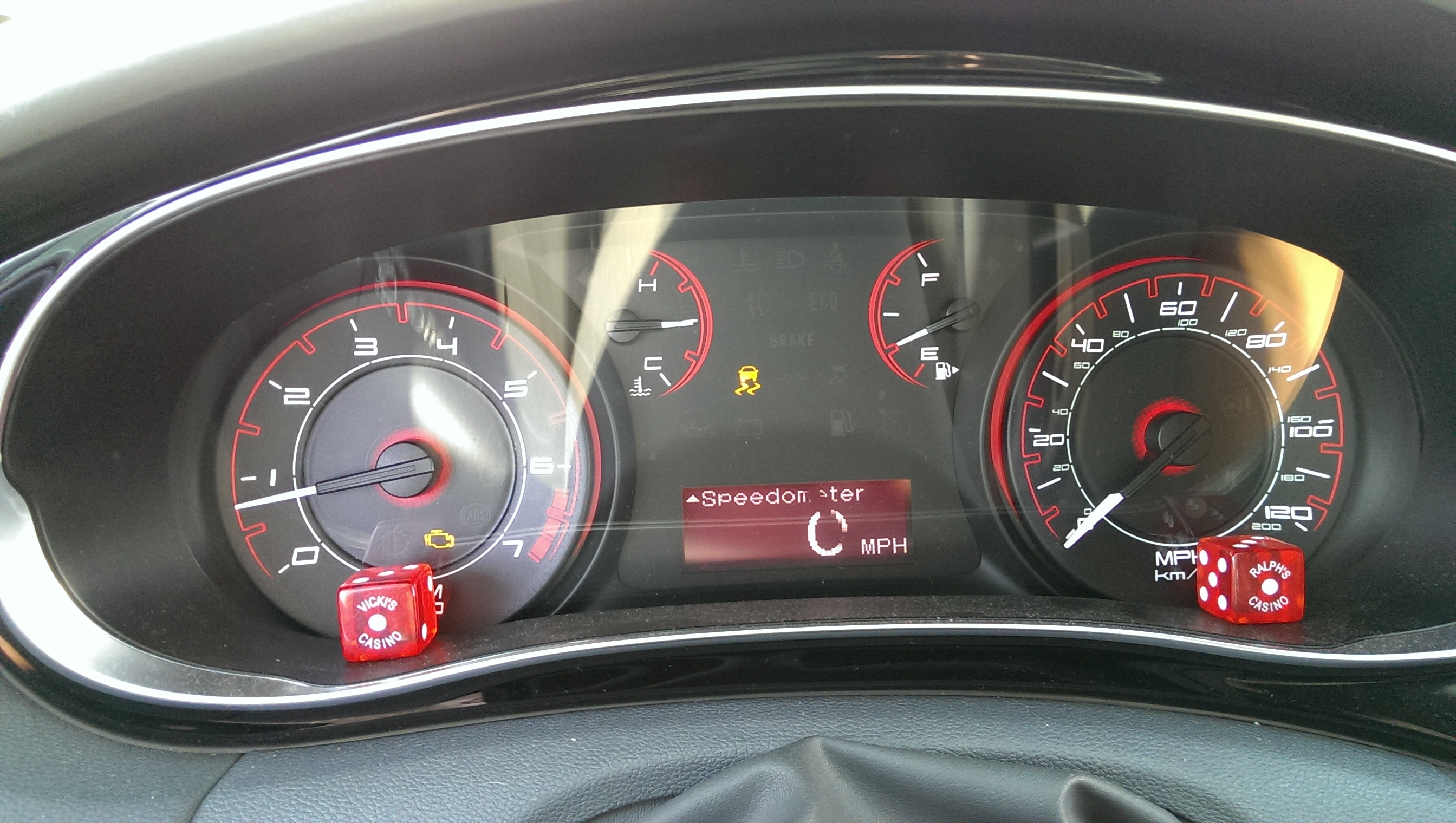 Check Engine Light and Traction Light On