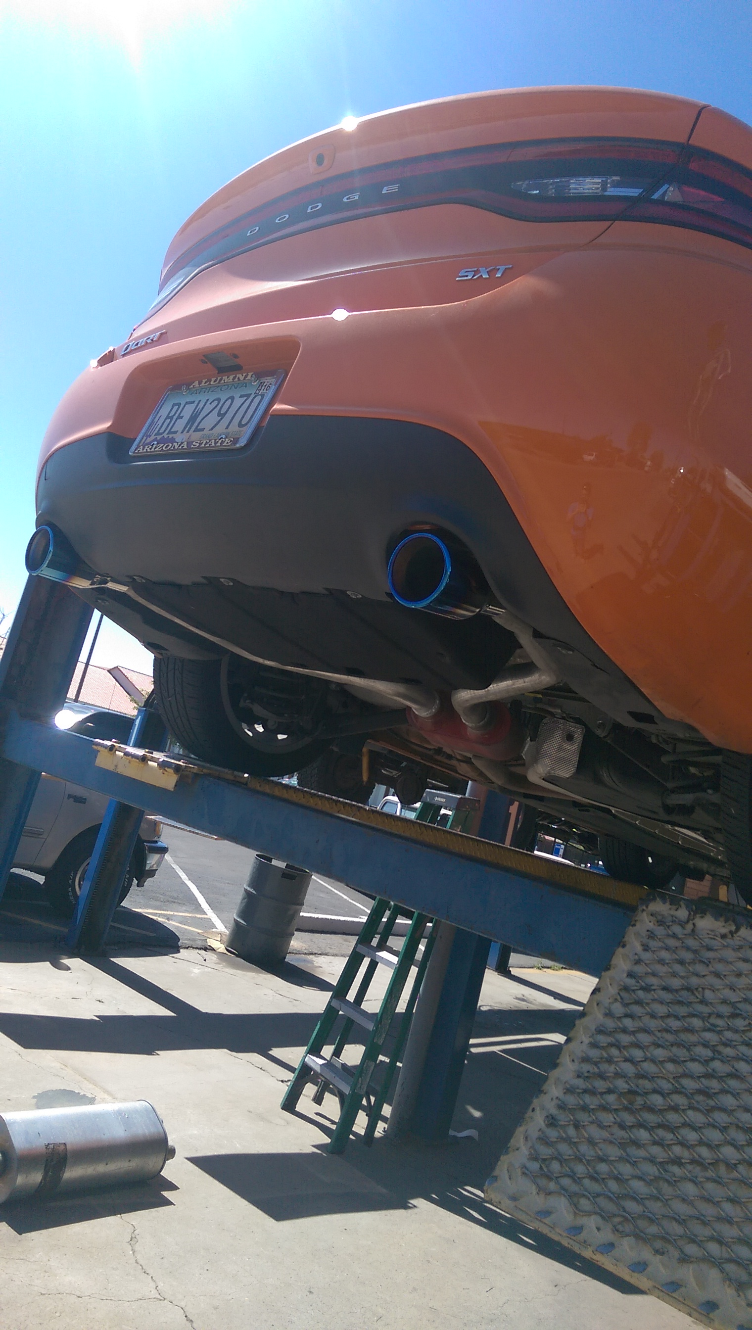 Dual Exhaust Tip Size