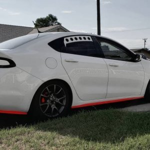 White Dodge Dart's